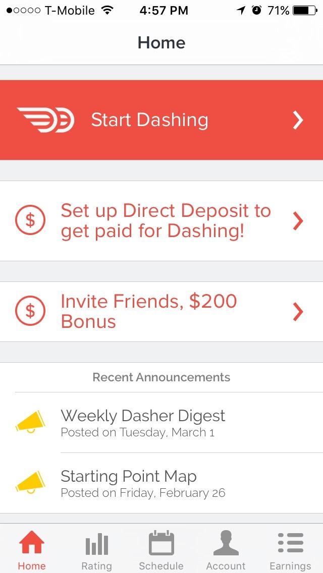 Madison : Doordash dasher app down